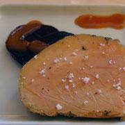 Foie gras de canard fumé et betterave