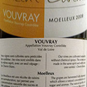 Vouvray moelleux 2008