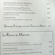 Carte (poissons & marché)
