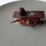 Choux craquant, chantilly chocolat, éclats de chocolat
