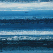 Erinnerung Blau II, Acryl auf Papier, ca. 60x80cm, Sandra Hosol