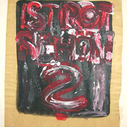Rot, Acryl auf Packpapier, Sandra Hosol