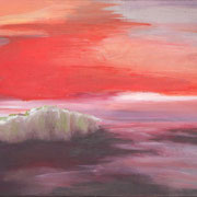Landschaftserinnerung, Acryl auf Leinwand, ca. 50x70 cm, 2015