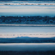 Erinnerung Blau VIII, Acryl auf Papier, ca. 40x50cm, Sandra Hosol