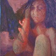 Pur, Acryl auf Papier, ca. 55x60cm, Sandra Hosol