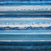 Erinnerung Blau IX, Acryl auf Papier, ca. 40x50cm, Sandra Hosol