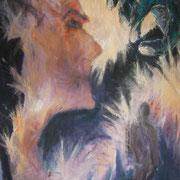 Schweigen, ca. 100x70cm, Malerei Sandra Hosol, 2011