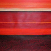 Erinnerung Rot I, Acryl auf Papier, ca. 60x80cm, Sandra Hosol