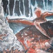Salzsäule, Acryl auf Papier, ca. 30x40cm, Sandra Hosol