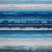 Erinnerung Blau VII, Acryl auf Papier, ca. 40x50cm, Sandra Hosol