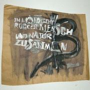 Mondlicht, Acryl auf Packpapier, Sandra Hosol