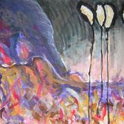 Enthoben, Acryl auf Papier, ca. 40x50cm, Sandra Hosol