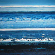Erinnerung Blau IV, Acryl auf Papier, ca. 60x80cm, Sandra Hosol