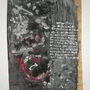 Wenn wir sterben, Acryl auf Packpapier, Sandra Hosol