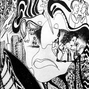 Was den Menschen ausmacht, Tinte auf Papier, ca. 15x21cm, Sandra Hosol