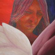 Verletzt, Acryl auf Papier, ca. 50x60cm, Sandra Hosol