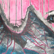 Verborgen, Acryl auf Papier, ca. 30x40cm, Sandra Hosol