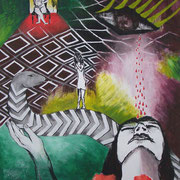 Hingabe, ca.100x70cm, Malerei Sandra Hosol, 2014