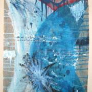 Ich hasse und ich liebe, Acryl auf Packpapier, Sandra Hosol