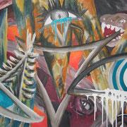 Augen, ca. 70x100cm, Malerei Sandra Hosol, 2015