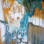 Wir sind uns fremd geworden, Acryl auf Papier, ca. 100x70cm, Sandra Hosol