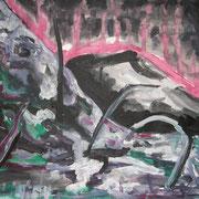Feuer, Acryl auf Papier, ca. 30x40cm, Sandra Hosol