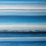 Erinnerung Blau VI, Acryl auf Papier, ca. 60x80cm, Sandra Hosol