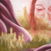 Gewachsen, Acryl auf Papier, ca. 50x60cm, Sandra Hosol