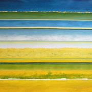 Erinnerung Grün II, Acryl auf Papier, ca. 60x80cm, Sandra Hosol