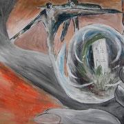Abschied, ca. 70x100cm, Malerei Sandra Hosol, 2011