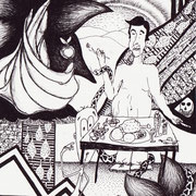 Maßlosigkeit, Tinte auf Papier, ca. 15x21cm, Sandra Hosol
