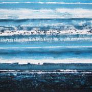 Erinnerung Blau III, Acryl auf Papier, ca. 60x80cm, Sandra Hosol