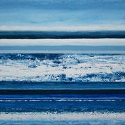 Erinnerung Blau V, Acryl auf Papier, ca. 60x80cm, Sandra Hosol