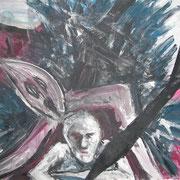 Nicht allein I, Acryl auf Papier, ca. 30x40cm, Sandra Hosol
