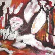 Verrucht, Acryl auf Papier, ca. 30x40cm, Sandra Hosol