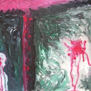 Die Wand, Acryl auf Papier, ca. 30x40cm, Sandra Hosol