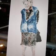 Alte Frau, Monotopie, ca. 18x30cm, Sandra Hosol