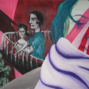 Traum, Acryl auf Papier, ca. 50x60cm, Sandra Hosol