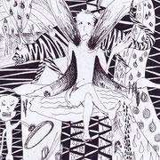 Der Unterdrückung machtlos gegenüber, Tinte auf Papier, ca. 15x21cm, Sandra Hosol
