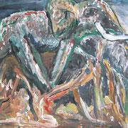 Stolz und Würde, Acryl auf Papier, ca. 30x40cm, Sandra Hosol