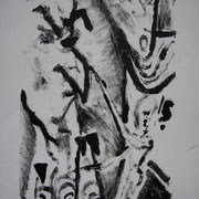 ohne Titel, Monotopie, ca. 21x30cm, Sandra Hosol