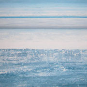 Erinnerung Blau X, Acryl auf Papier, ca. 60x80cm, Sandra Hosol