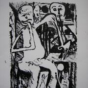 Die Verwunschene, Monotopie, ca. 25x33cm, Sandra Hosol