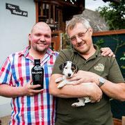 Bulldog mit seinem neuen Führer Leo! Er wird jetzt aktiver Baujäger in Carnuntum/NÖ