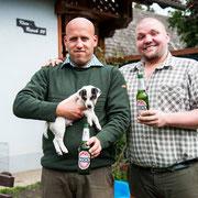 Beck´s mit seinem neuen Führer Mario! Er wird ebenfalls aktiver Baujäger in Niederösterreich/Zogelsdorf