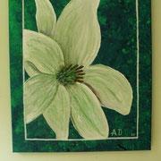 Die Lilie im Tale - by: Bella Bellíssima. eine meiner Enkel mit 13 Jahren. Acryl auf Leinwand. - hds -