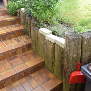 Mauer- und Treppenbau VORHER
