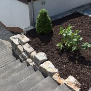 Treppe und Beet NACHHER