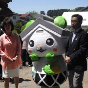 Kurarin, an office mascot of Murata-machi Town