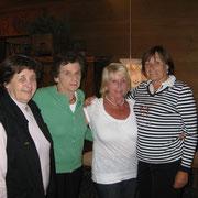 v.l.n.R.: Deli Wishaber, Gretl Wishaber, Christl Hilber, Anneliese Danninger